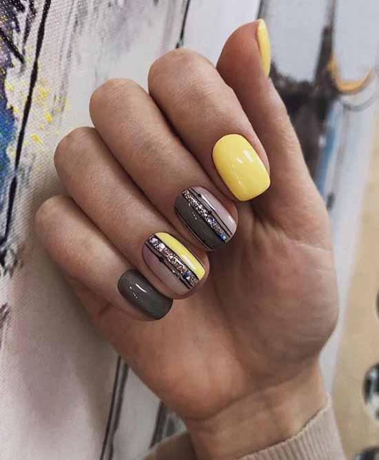 Желтый с геометрией