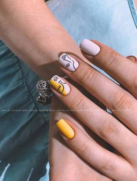 Желтый маникюр 2021: фото с самым модным дизайном