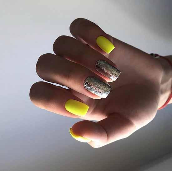 Желтый с блестками