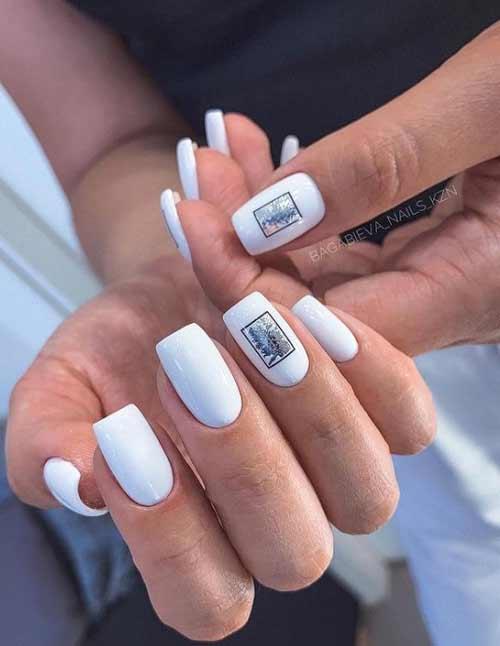 Белый с черным и серебром