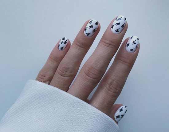 Черно-белый маникюр 2021: фото, топовый дизайн ногтей