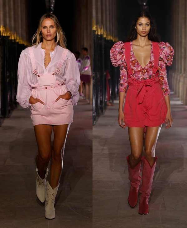 Модный образ в розовом цвете тренд 2021
