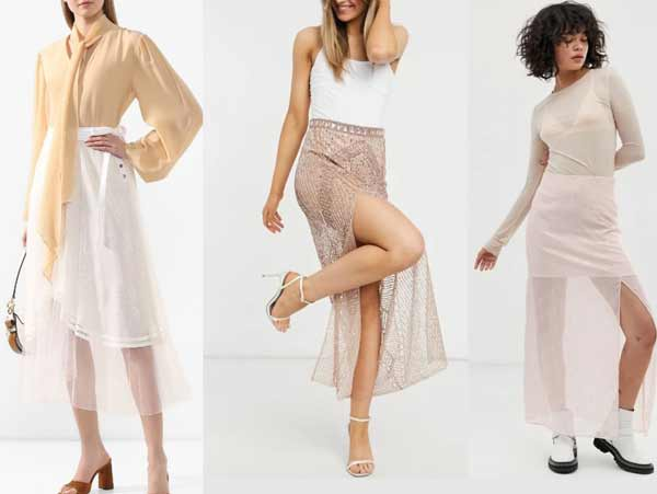 Модные прозрачные юбки