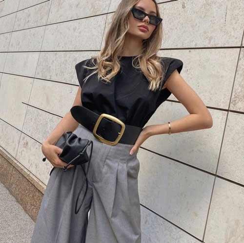 Широкие брюки с чем носить, фото, идеи для образов