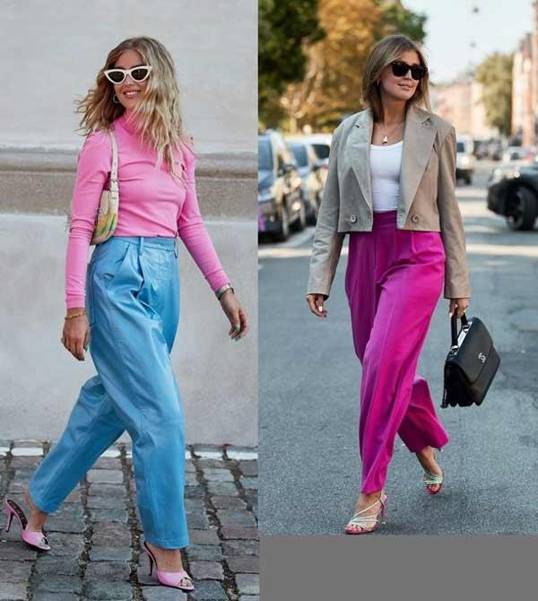 Широкие брюки для полных девушек