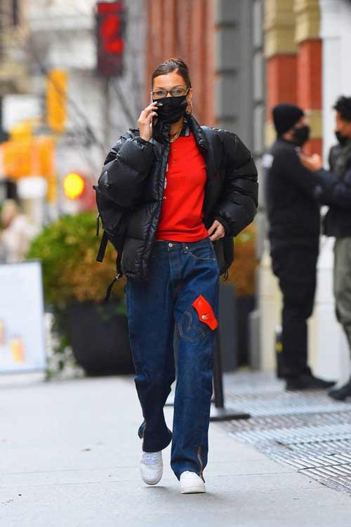 Широкие джинсы