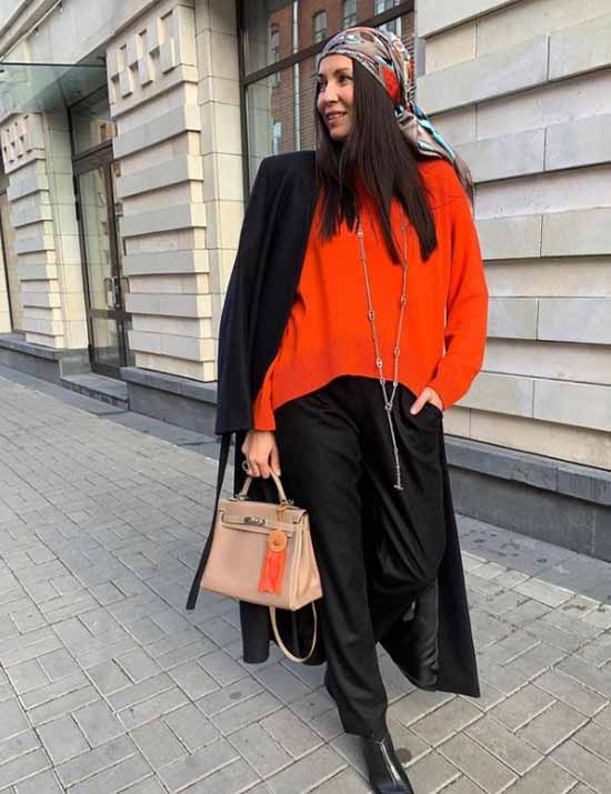 Образы с широкими брюками