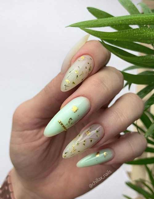 Длинные ногти весенний маникюр