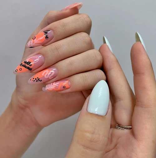 Модный маникюр весна на длинные ногти