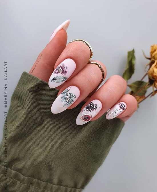 Модный весенний маникюр длинные ногти
