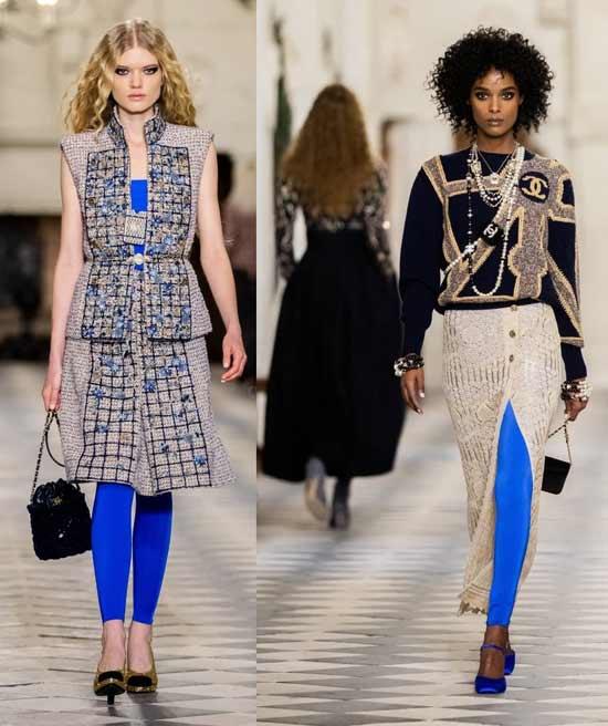 С чем носить синие легинсы