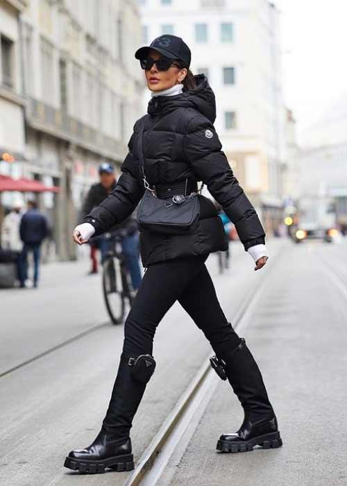 Легинсы с чем носить зимой