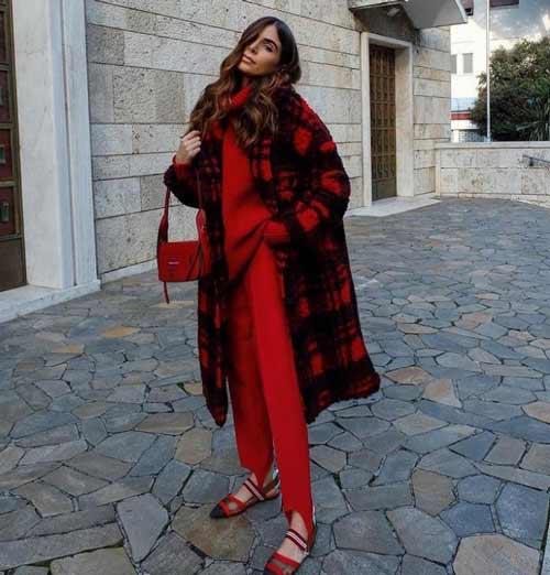 Красные легинсы с чем носить