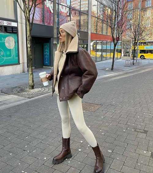 Легинсы с зимней одеждой