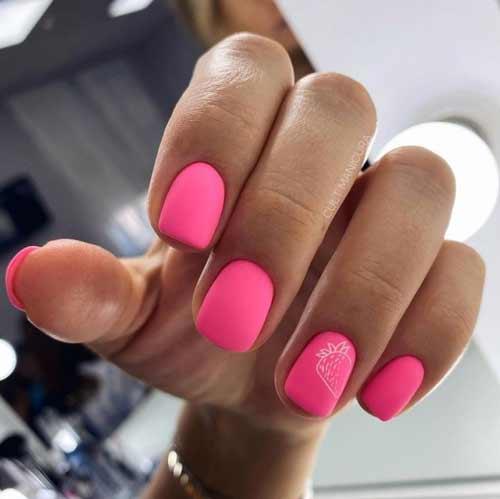 Яркие ногти дизайн с фруктами