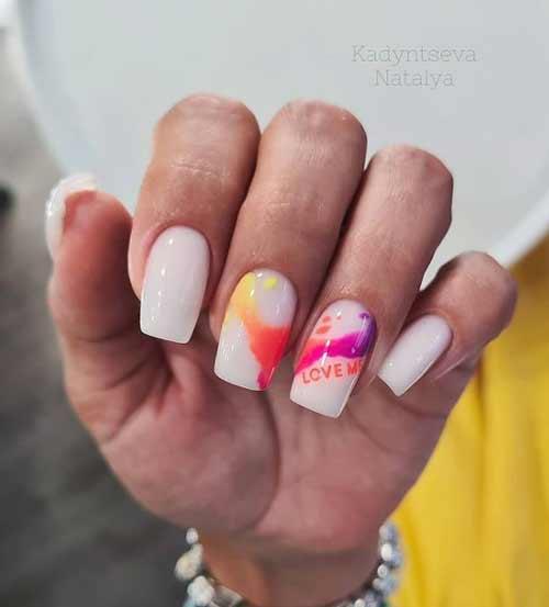 Летние ногти с дизайном