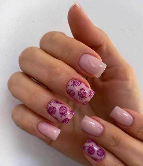 Летний дизайн ногтей с фруктами