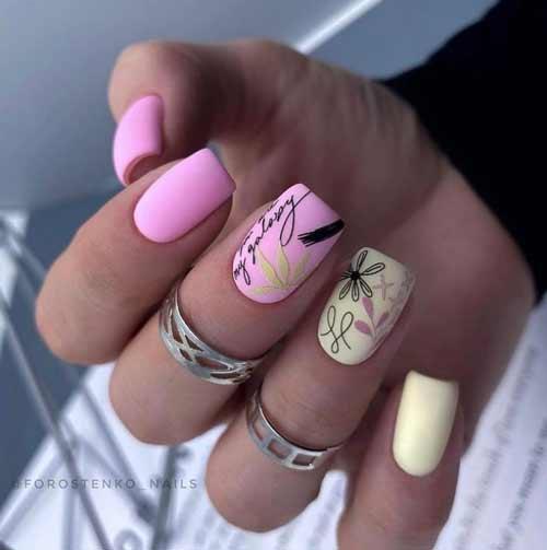 Красивый летний дизайн ногти