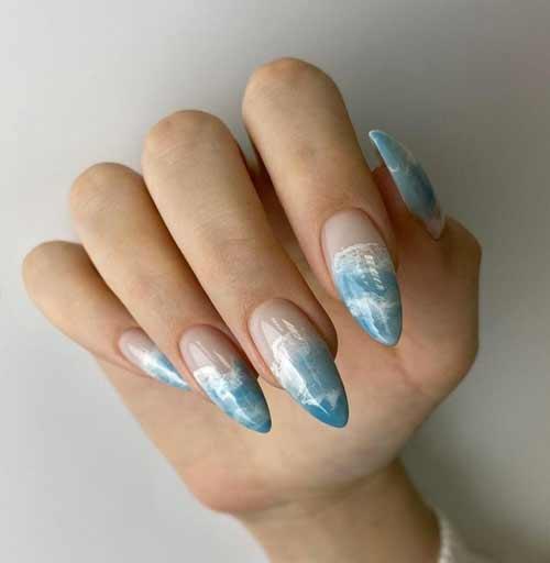 Летний дизайн ногтей длинные ногти