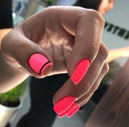 Яркий летний дизайн ногти
