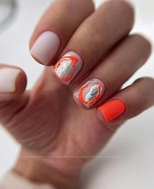 Модный летний маникюр на короткие ногти