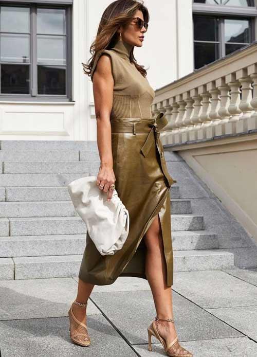 Модная юбка с запахом и бантом