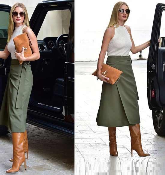 Модная юбка мини с запахом