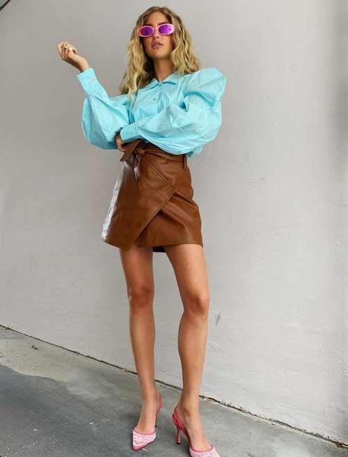 Модная короткая юбка