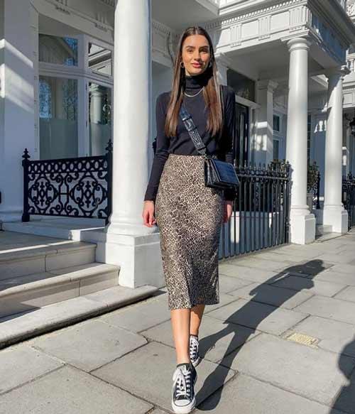 Модные юбки леопардовый принт
