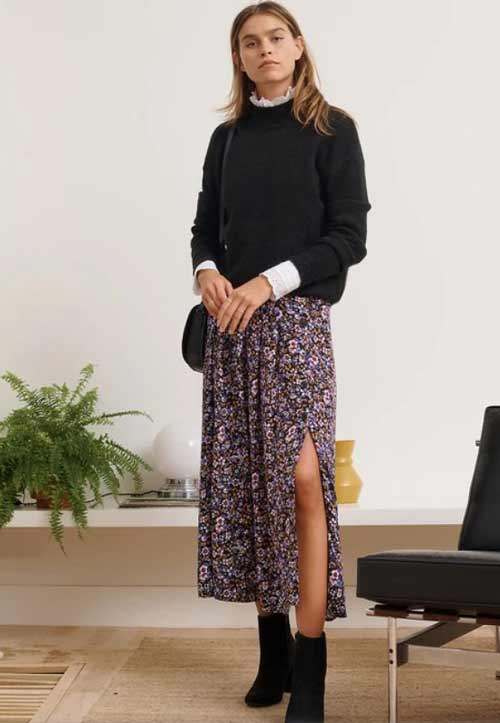Модные юбки в цветочек