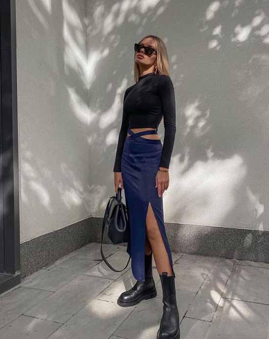 Модные юбки разрез