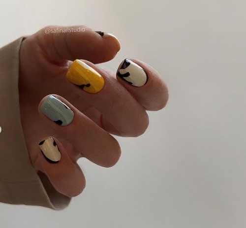 Модный пастельный маникюр короткие ногти