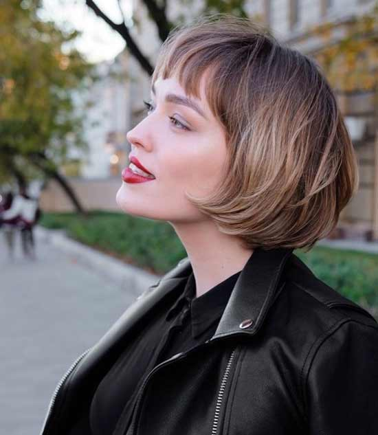 Стрижка боб для тонких прямых волос