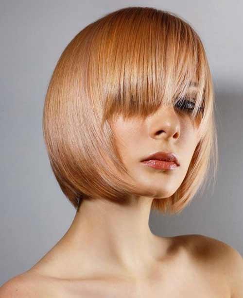 Женские стрижки прямые волосы с челкой