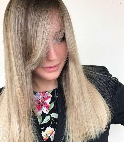 Модная челка на прямые волосы