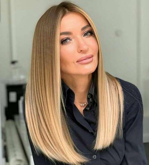 Стрижка длинные прямые волосы