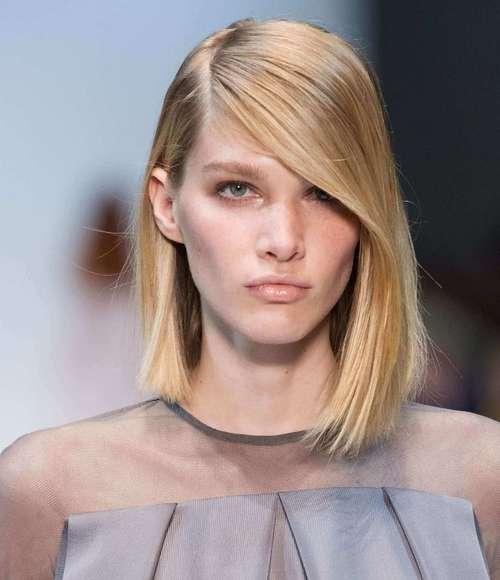 Стрижки на средние прямые волосы