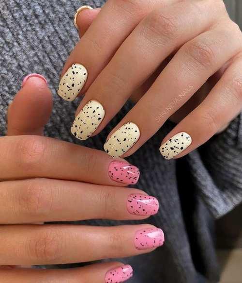 Весенний дизайн по форме ногтей