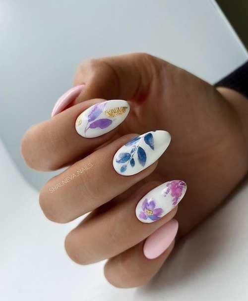 Ногти миндаль весенний дизайн