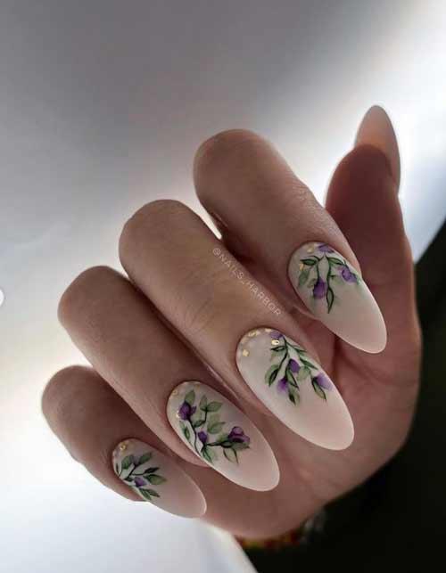 Нежный весенний дизайн ногтей