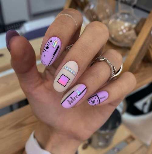 Яркий молодежный весенний дизайн ногти