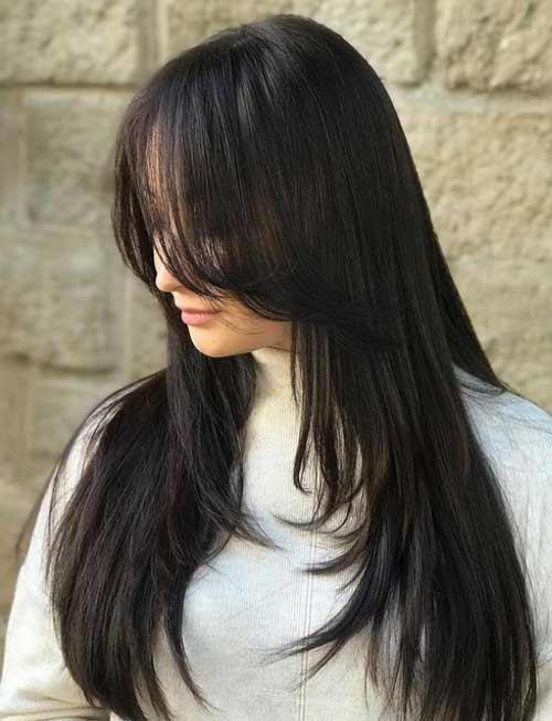 Стрижка лесенка длинные волосы