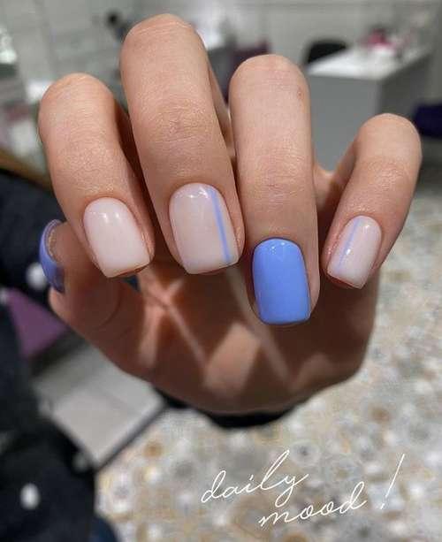 Акцент другим цветом на безымянном пальце