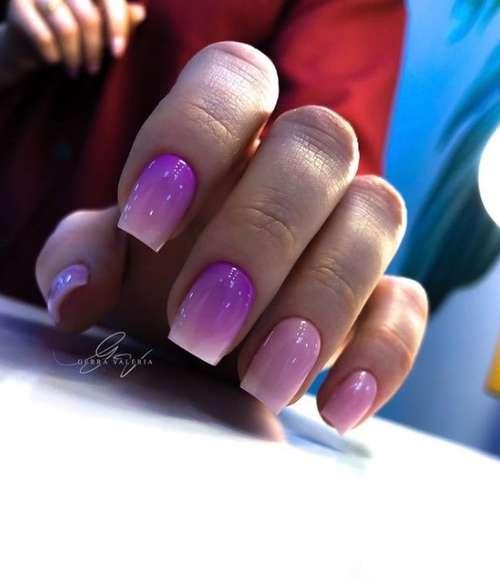 Весенний градиент ногти