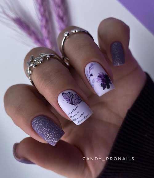 Бабочки на ногтях слайдером