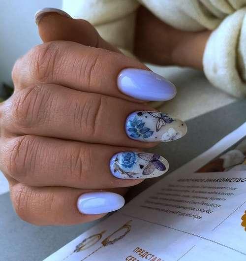 Маникюр с бабочками 2021: фото новинки дизайна
