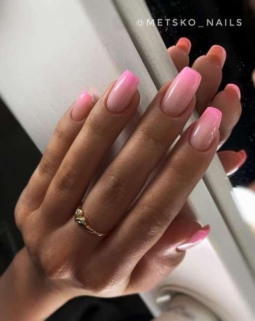 Маникюр в розовых тонах 2021: модные новинки розового маникюра