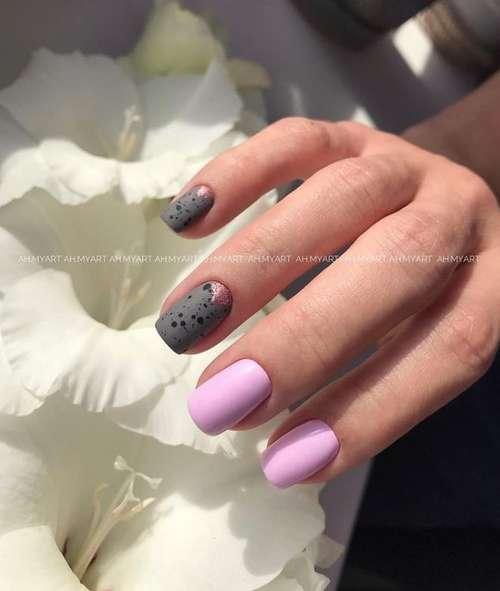 Маникюр короткие ногти в розовых тонах