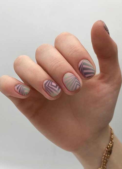 Градиент и стемпинг на ногтях