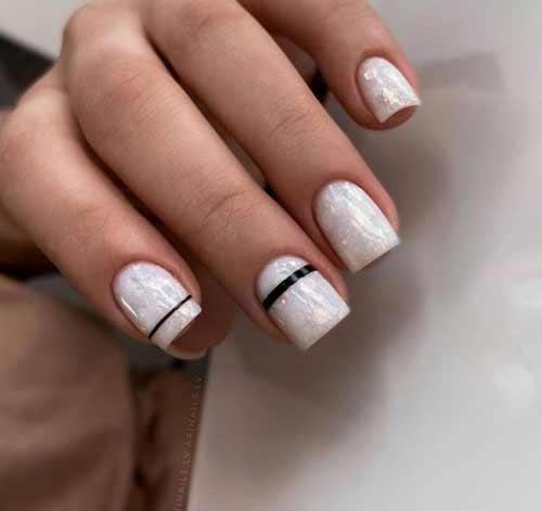 Молочные нежные ногти